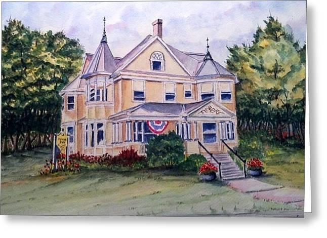 Monroe Inn Auburn Maine Sold Greeting Card by Richard Benson