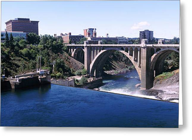 Monroe Street Bridge Across Spokane Greeting Card