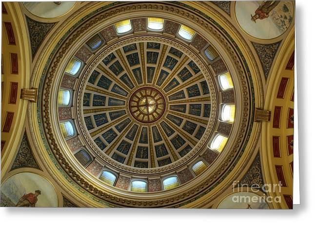 Montana State Capitol Greeting Card by Juli Scalzi
