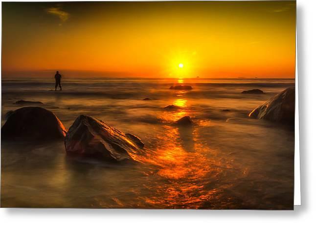 Montauk New York Summer Sunrise Greeting Card