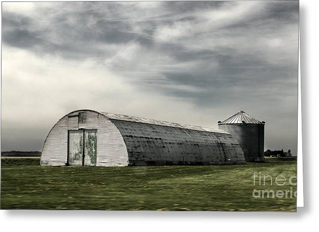 Montezuma Iowa - Farm  Greeting Card by Gregory Dyer