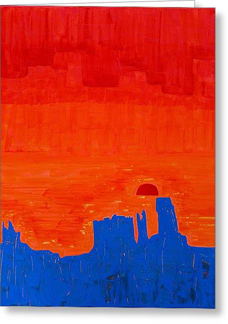 Monument Valley Original Painting Greeting Card