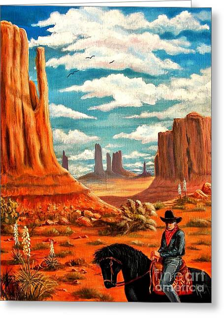 Monument Valley View Greeting Card by Marilyn Smith