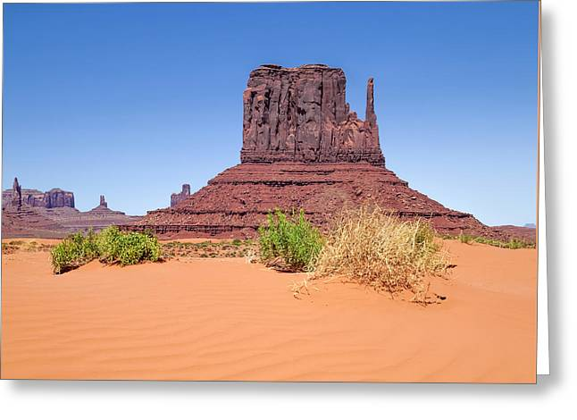 Monument Valley West Mitten Butte Greeting Card