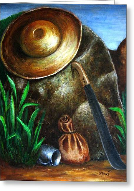 Monumento Jibaro Greeting Card by Edgar Torres