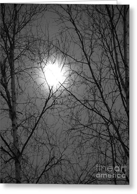 Moon Greeting Card by Jennifer Kimberly