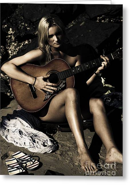 Moonlight Music Greeting Card by Jorgo Photography - Wall Art Gallery