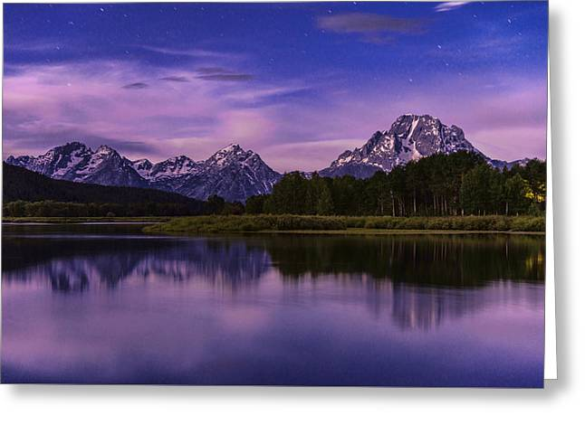 Moonlight Bend Greeting Card by Chad Dutson
