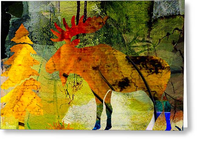 Moose Greeting Card by Marvin Blaine