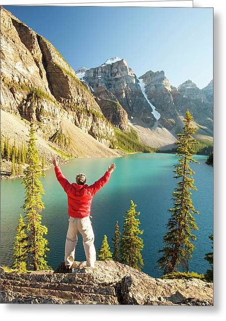 Moraine Lake In The Canadian Rockies Greeting Card