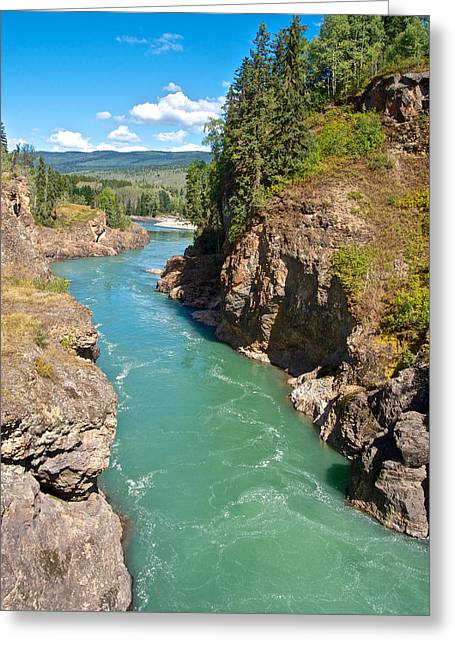 Moricetown Canyon On The Bulkley River In Moricetwown-bc Greeting Card by Ruth Hager