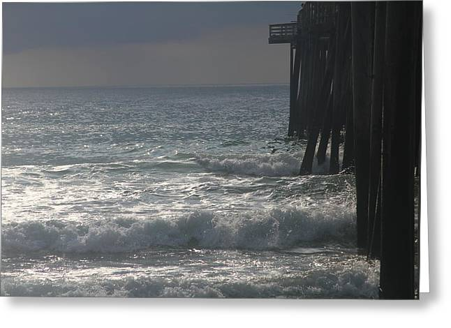Morning At Rodanthe Pier 6 Greeting Card by Cathy Lindsey