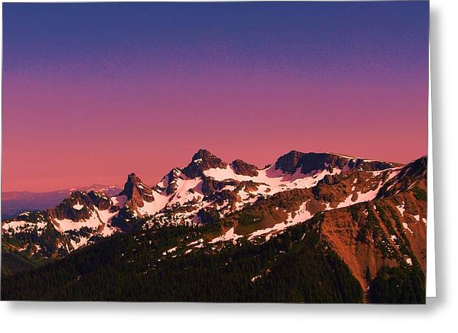 Morning In The Cascades Greeting Card by Jeff Swan