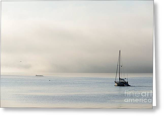 Morning Mist Greeting Card by Mike  Dawson