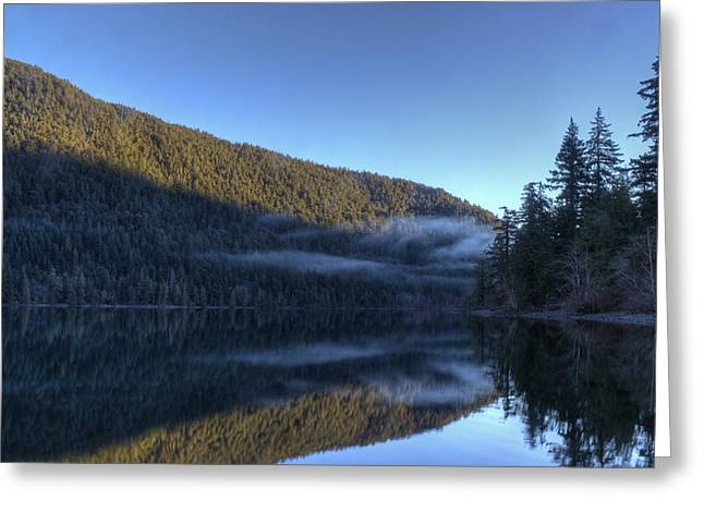 Morning Mist Greeting Card by Randy Hall