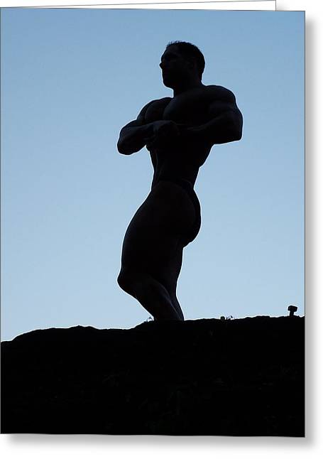 Morning Muscle Greeting Card by Jake Hartz