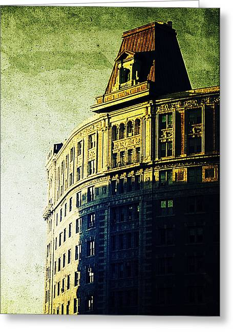 Morningside Heights Green Greeting Card by Natasha Marco