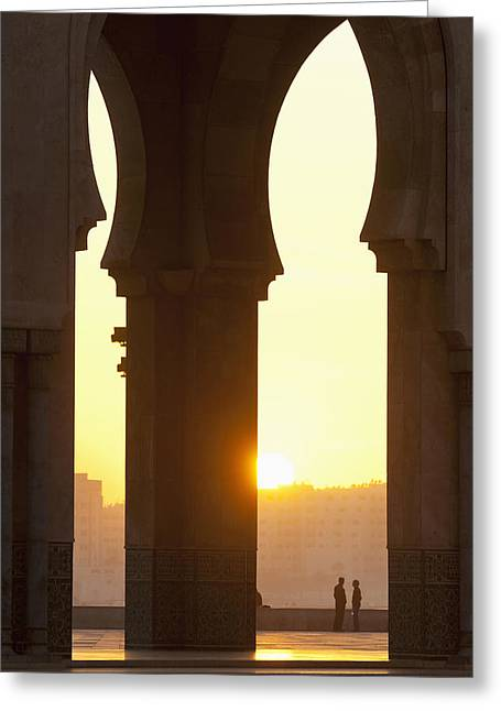Morocco, Looking Through Arches Greeting Card