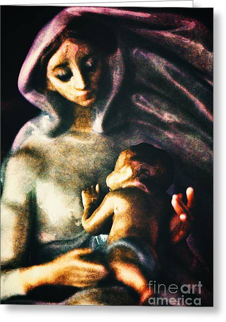 Mother And Child Greeting Card by Davy Cheng