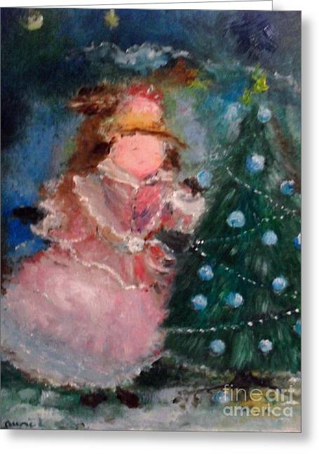 Greeting Card featuring the painting Mother Christmas by Laurie Lundquist
