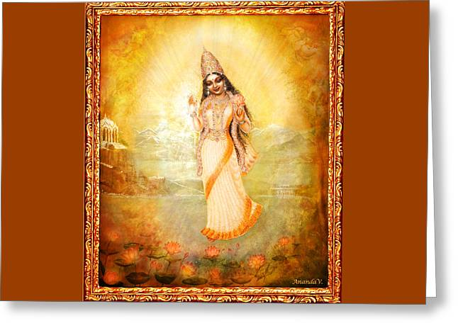 Mother Goddess With Angels Greeting Card
