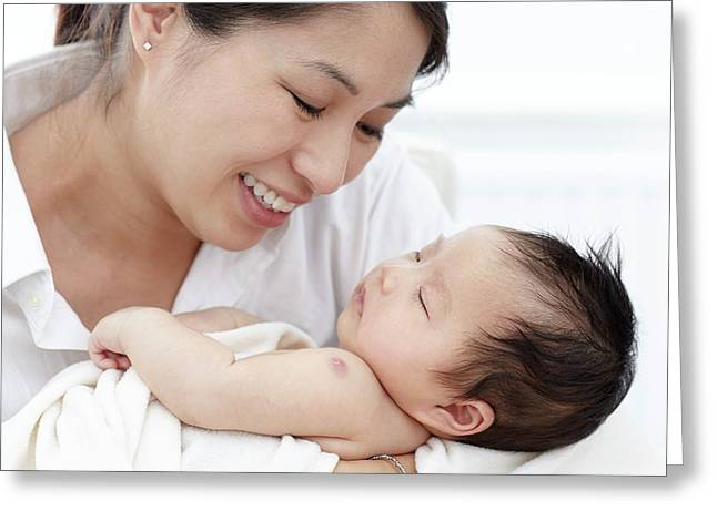 Mother With Baby Daughter Greeting Card