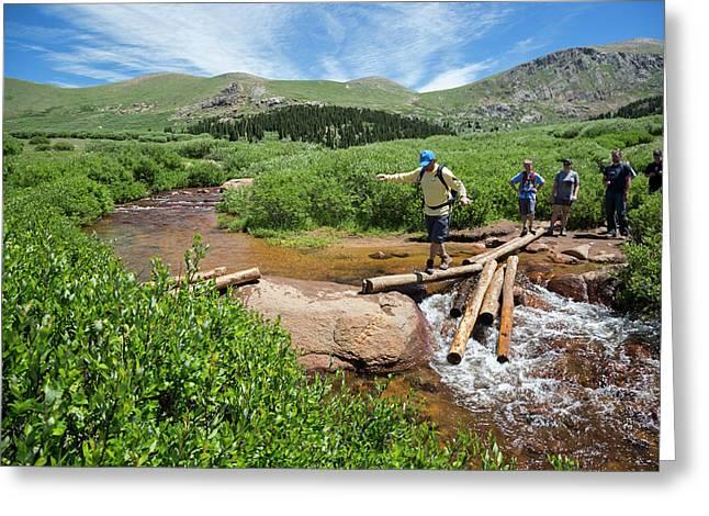 Mount Bierstadt Hiking Trail Greeting Card by Jim West