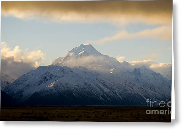 Mount Cook New Zeland Greeting Card by Tim Hester