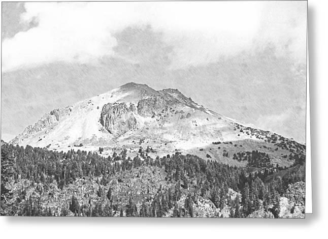 Mount Lassen Greeting Card by Frank Wilson