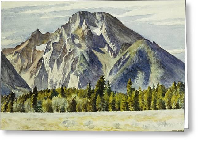 Mount Moran Greeting Card by Edward Hopper
