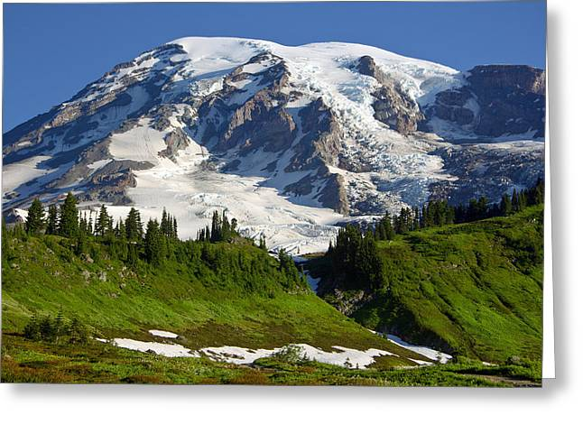 Greeting Card featuring the photograph Mount Rainier From Paradise by Bob Noble Photography
