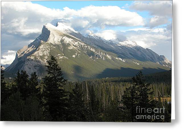 Mount Rundle Greeting Card by Stuart Turnbull