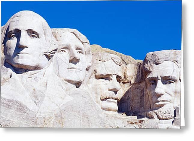 Mount Rushmore, South Dakota, Usa Greeting Card by Panoramic Images