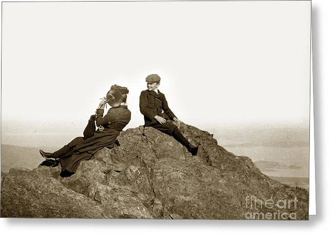 Greeting Card featuring the photograph Mount Tamalpais Marin County  Circa 1902 by California Views Mr Pat Hathaway Archives