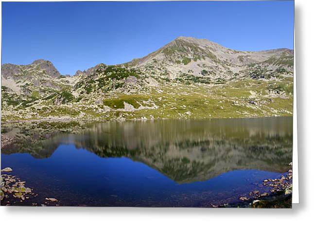 Mountain And Lake Greeting Card by Ioan Panaite