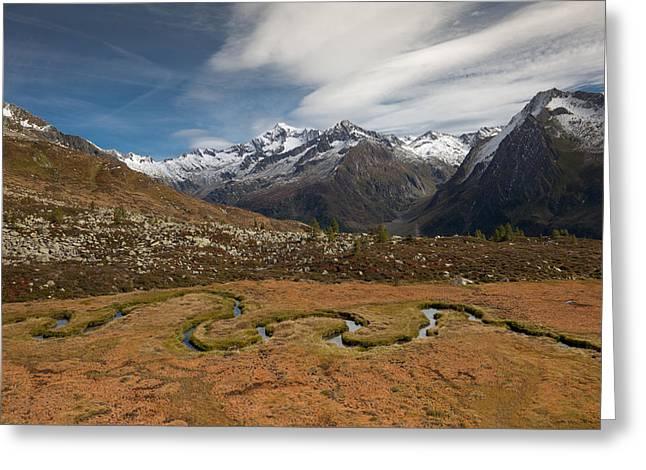 Mountain Biotope Greeting Card by Lorenzo Tonello