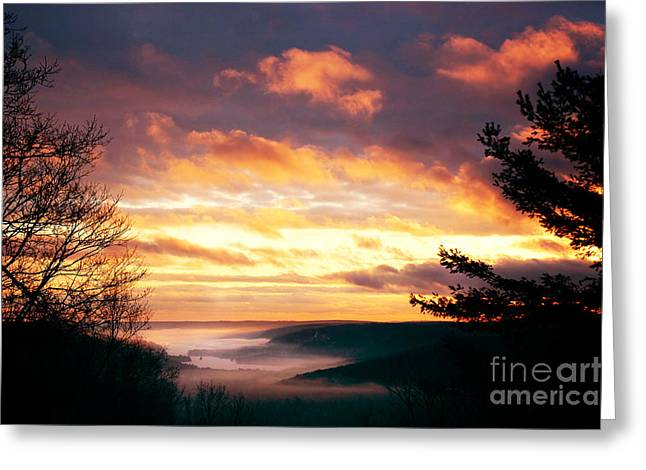 Mountain Fog Greeting Card by HD Connelly