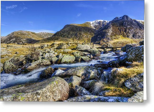 Mountain Stream Greeting Card by Ian Mitchell
