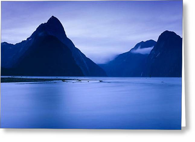 Mountains At Dawn, South Island, New Greeting Card by Panoramic Images