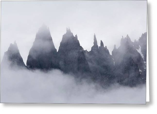 Mountains In Fog, Prince Christian Greeting Card by Daisy Gilardini