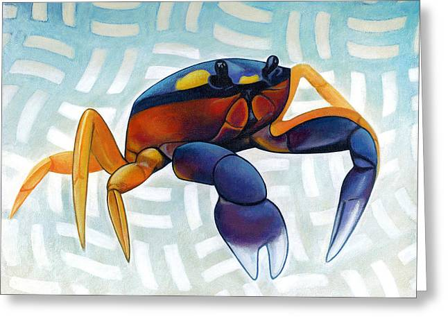 Mouthless Crab Greeting Card by Nathan Miller