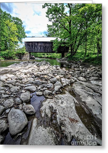 Moxley Covered Bridge Chelsea Vermont Greeting Card by Edward Fielding