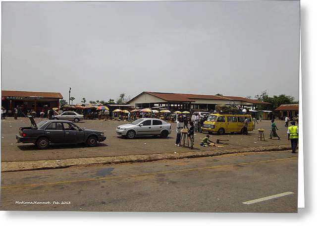 Moyamba Junction-markets Greeting Card