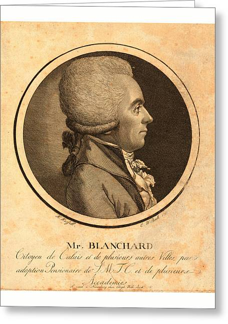 Mr. Blanchard, Living In Calais Greeting Card by French School