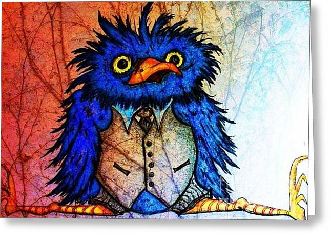 Mr Blue Bird Greeting Card