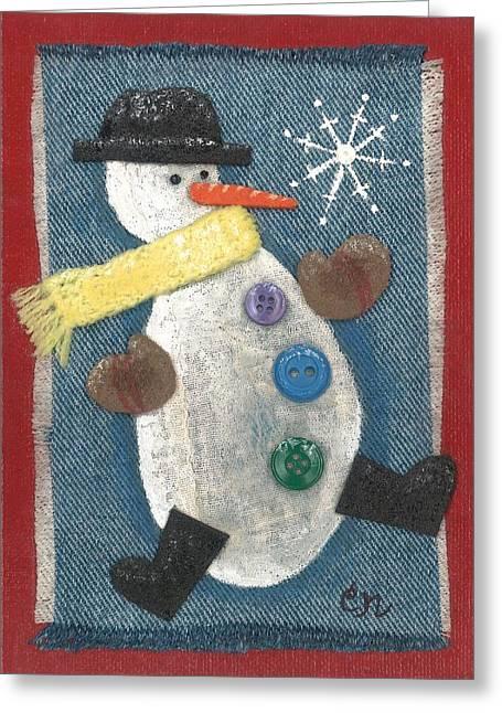 Mr. Snowjangles Greeting Card