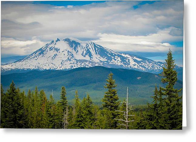 Mt. Adams From Indian Heaven Wilderness Greeting Card