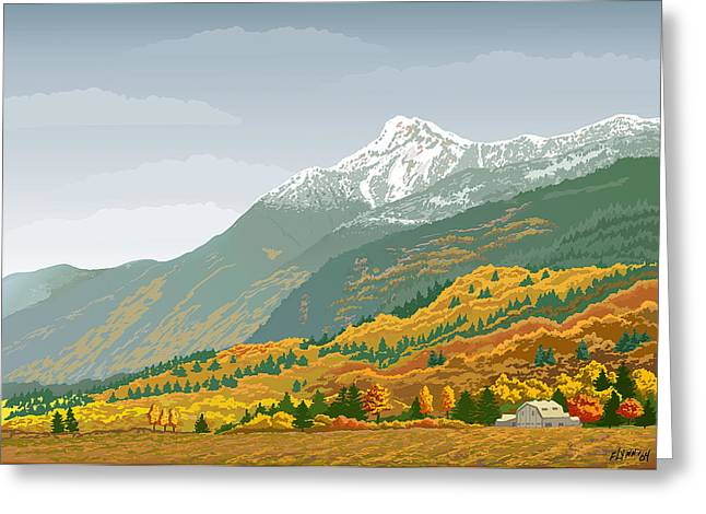 Mt Cheam In Autumn Greeting Card