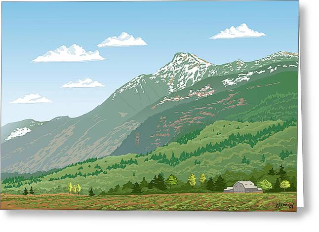 Mt Cheam In Spring Greeting Card