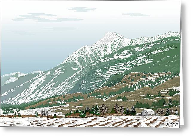 Mt Cheam In Winter Greeting Card